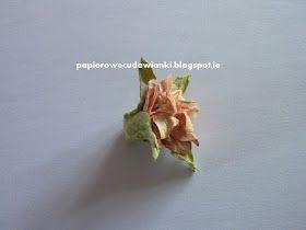 To co robię i co lubię: Kurs na serduszko z tektury i papierowe kwiaty