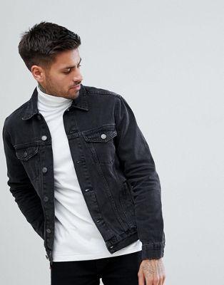 a5cd04576c New Look Denim Jacket In Dark Grey Wash