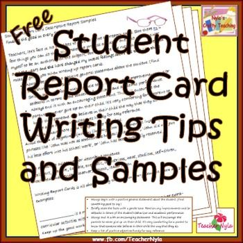 Report Card Comments, Tips and Samples - Free: Teachers, use the included rules to guide you when writing up report cards.