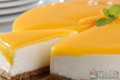 Receita de Cheesecake de manga diet em receitas de tortas doces, veja essa e outras receitas aqui!
