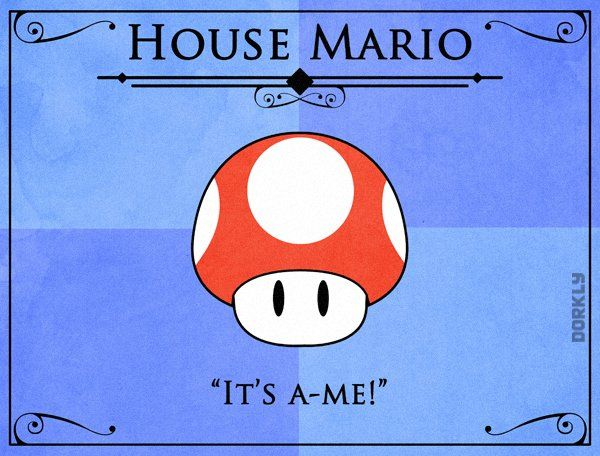 Super Mario Game Of Thrones Crossover Iron Throne: Game Of Thrones House Sigils For Videogame