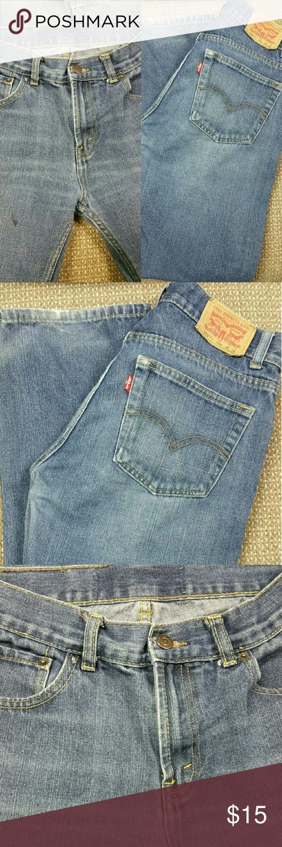 Levi's 505 Jeans Boys size 18, Levi 505 jeans. Great condition, some fading at leg hems, one small dark mark on leg as seen in picture. Levi's 505  Bottoms Jeans