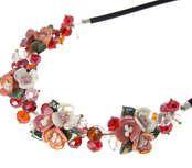 Náhrdelník perleťové květiny  #sperky #jewelry #nahrdelnik #necklace