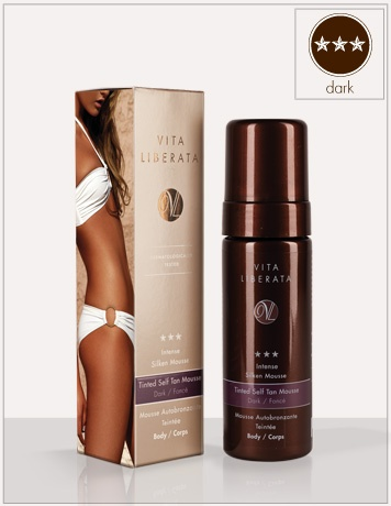 Intense Silken Mousse. Tinted self tan mousse dark body | Vita Liberata