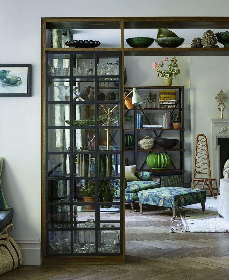 Fantastiskt Londonhem   helt inrett i gr nt och bl tt  Boat InteriorInterior  DesignDiy Room DividerRoom  Best 10  Room dividers ideas on Pinterest   Tree branches  . Home Dividers Designs. Home Design Ideas