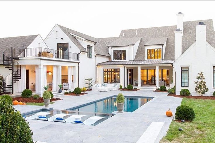 Beautiful architecture and pool. The hard scape and landscape or contemporary and Elegant. Interior design, interiors, designer, home, house, design beautifully!