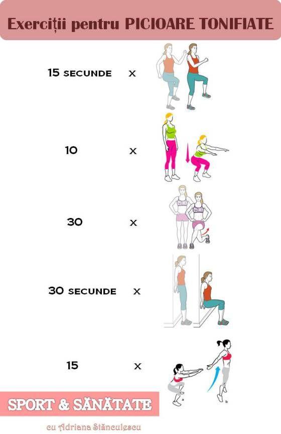 exercitii pentru picioare tonifiate