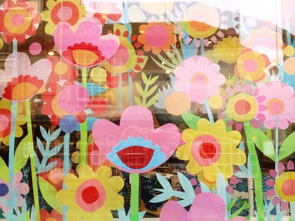 flower fields window display