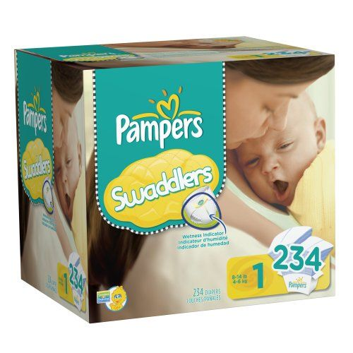 Pampers #Swaddlers Diapers Economy Pack Plus Size 3, 174 Count ...