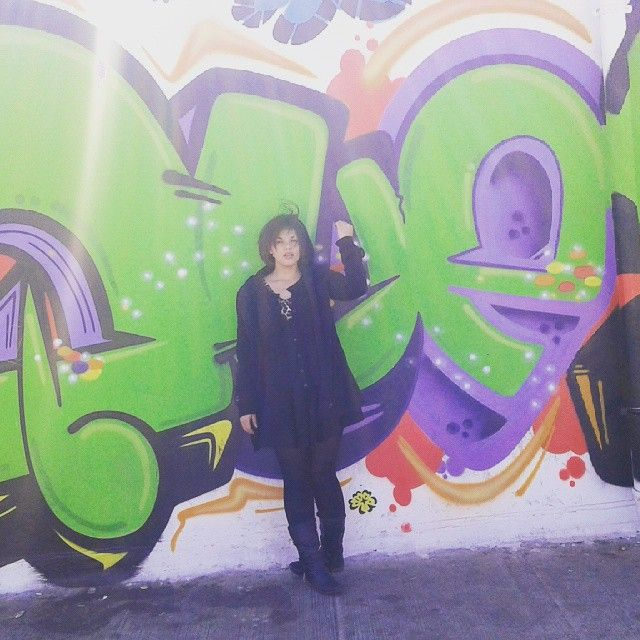 "14 Likes, 2 Comments - 👑🎭Celesté DQ Starr🎬♡ (@celeste_b_van_wyk) on Instagram: ""#graffiti  #Sun  #winter #sexyinblack #PlusSize  #Newtown #Johannesburg"