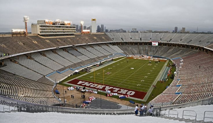 The Cotton Bowl is seen before the Red River Showdown college football game between the University of Oklahoma Sooners (OU) and the University of Texas Longhorns (UT) at the Cottonbowl in Dallas on Saturday, Oct. 11, 2014. Photo by Bryan Terry, The Oklahoman
