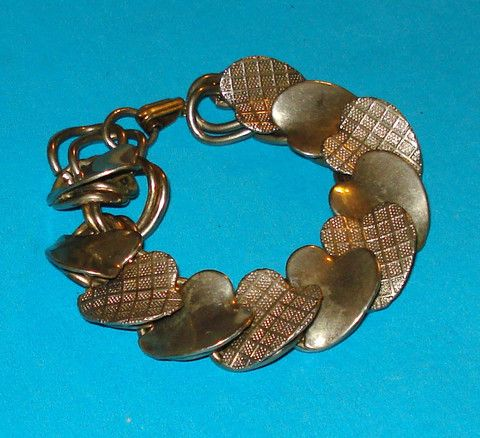 Plaid Hearts Valentine Bracelet - Mookie Designs Vintage