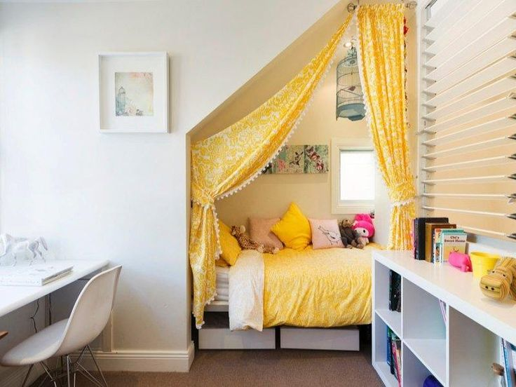 Bedroom Design Ideas Yellow 291 best small space living: kids rooms images on pinterest