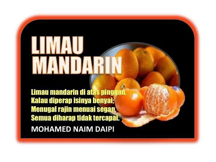 Pantun ~ Limau Mandarin