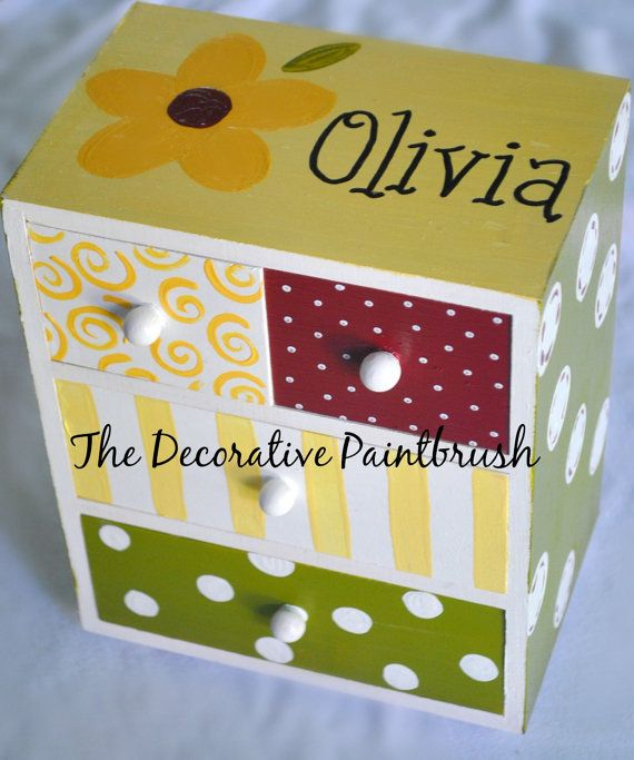 Jewelry Box Personalized Gift Flower Girl by TheDecorativeBrush, $22.00
