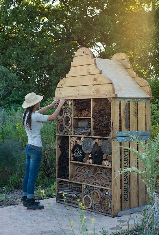 @Hannah we need to make one of these...I love it! Maybe Mrs. Fadroski knows how to make them. Insect hotel at Babylonstoren, Cape Town