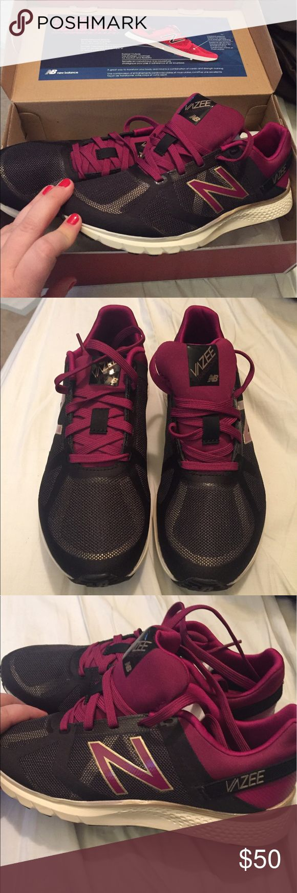 Brand new New Balance sneakers Women's size 7 New Balance Vazee Transform running sneakers in black and purple. Brand new in box, never been worn. New Balance Shoes Sneakers