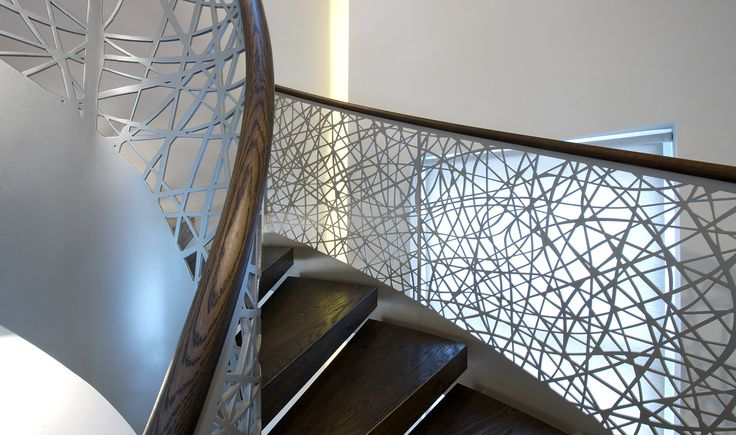 Stairs - Water Cut Lattice - TinTab - Contemporary, bespoke, design & manufacturing in Newhaven, East Sussex