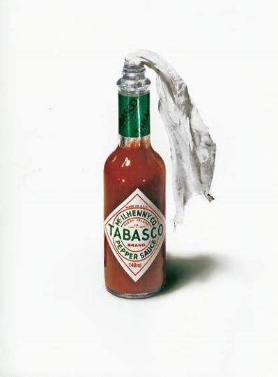 Love the simplicity of this ad. Not sure where or by whom, but well done Tabasco.