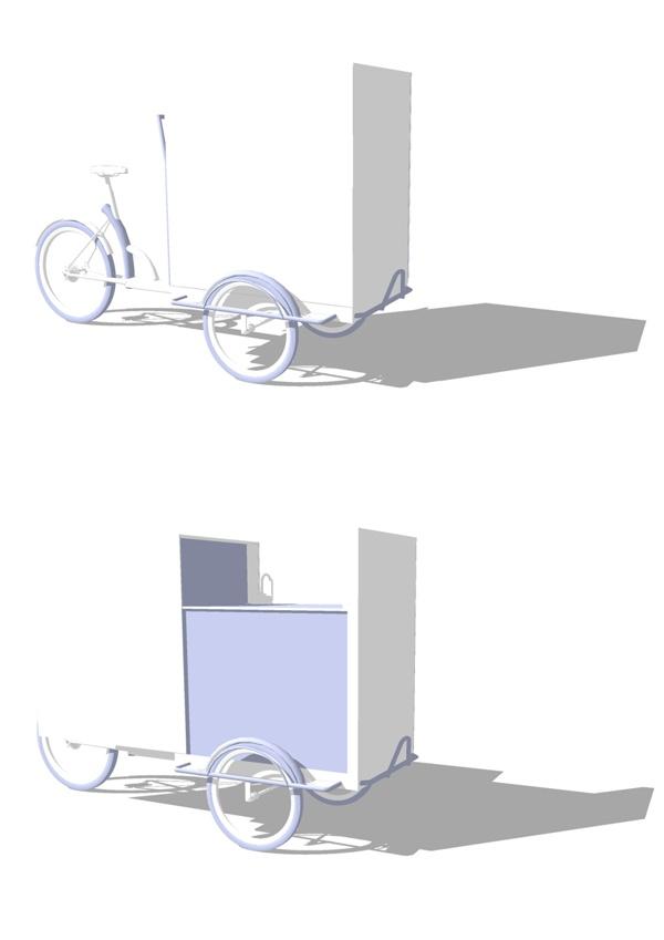 Guerrilla Café cargo-bike design by Ben Eshel, via Behance