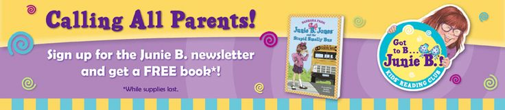 FREE Junie B. Jones Book and Activity Pages