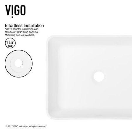 Vigo Marigold Matte Stone Vessel Sink and Linus Bathroom Vessel Faucet in Brushed Nickel, White