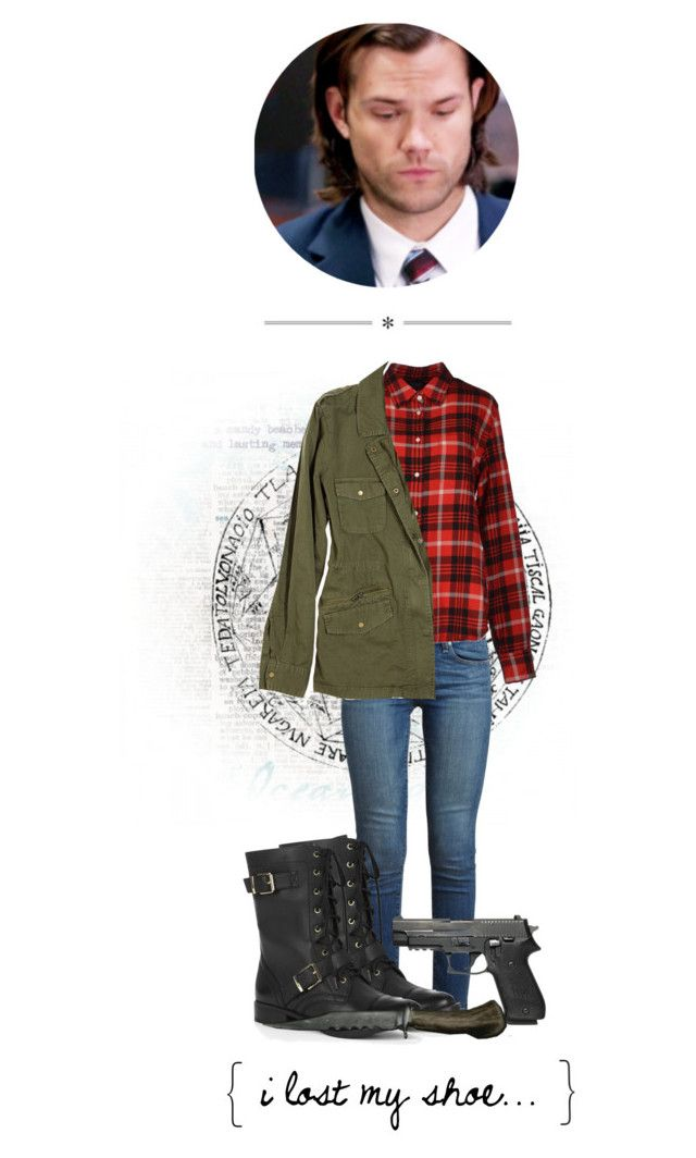 """""""Female Sam Winchester Outfit"""" by amazinglycoolpancakemermaid ❤ liked on Polyvore featuring Paige Denim, Aspesi, Velvet and Sole Society"""