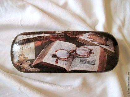 """Очки ручной работы. Ярмарка Мастеров - ручная работа Очешник """"В тишине. Падает лист"""". Handmade."""