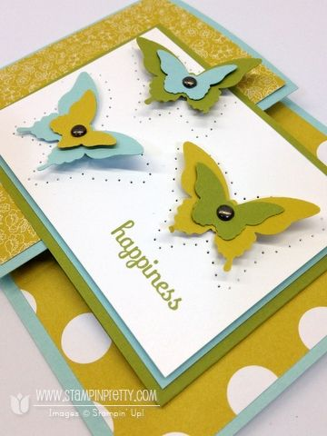 Happy butterfly card featuring the joy fold