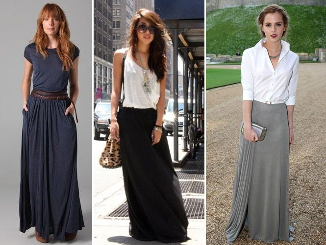 Saia longa Moda 2015: Aprenda como usar e montar looks
