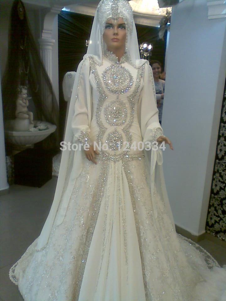 38936 real work muslim hijab wedding dress