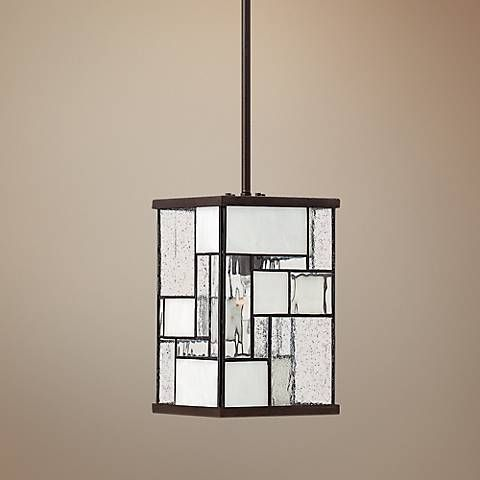"Hinkley Mondrian 7"" Wide Buckeye Bronze Mini Pendant Light"