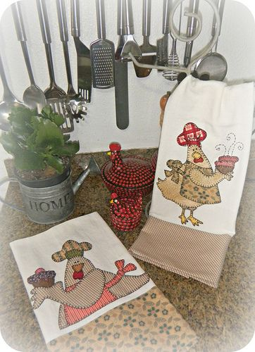 PaNoS De PrAtO: Apply, Flickr, De Photo, Chicken Dishes, Cute Kitchens, Chicken Stitchen, Little Red Hens, Chicken Kitchens Towels