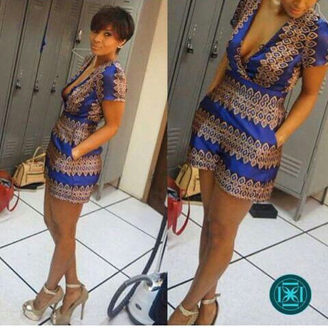Top Ten Amazing Ankara Short Jumpsuit Styles 2016  Dabonke