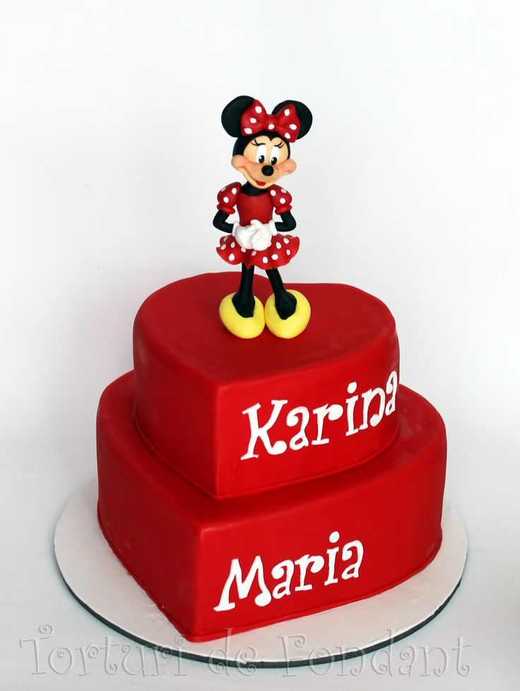 ... on Pinterest  Minnie mouse cake, Birthday cakes and Mickey mouse cake