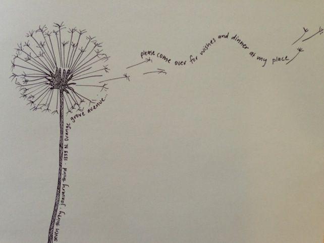 Love Is by Jo Gartin » LOVE IS drawing + dandelions + dinner