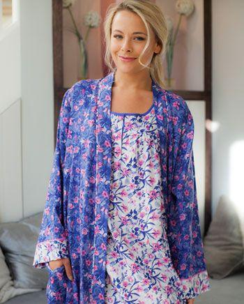 Betsy Dual Floral Printed Robe, Cyberjammies