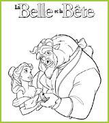 coloriages La Belle et la Bête Amoureux