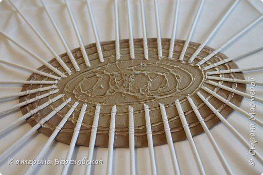 Мастер-класс Поделка изделие Плетение МК по обтягиванию картона тканью Картон Клей Ткань фото 25