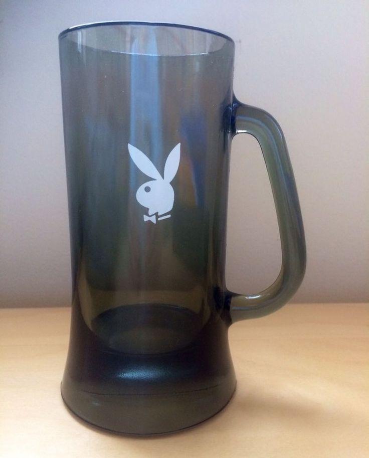 Vintage Playboy Bunny Logo Tall 12 oz Glass Mug Beer Stein Dark Green 6 5  h. 119 best Playboy Bunny Items images on Pinterest