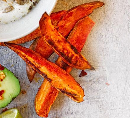 These chunky chips are spiced with cayenne pepper to make them extra moreish. Enjoy as a snack on their own or on the side