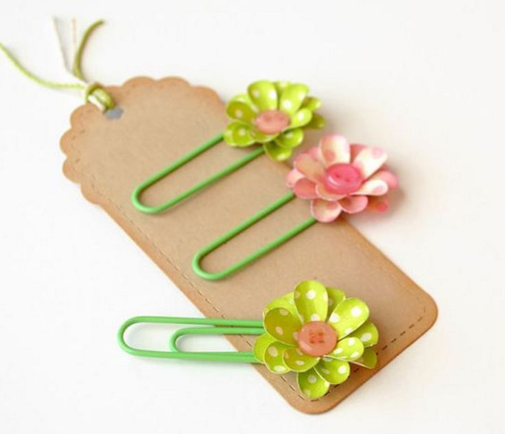 Etsy Paperclip Flower Bookmarks