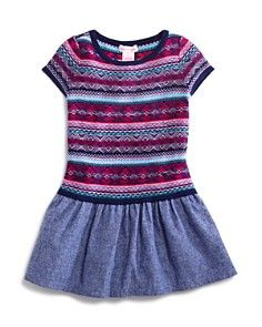 Design History Girls' Sweater & Chambray Dress - Sizes 2-6X