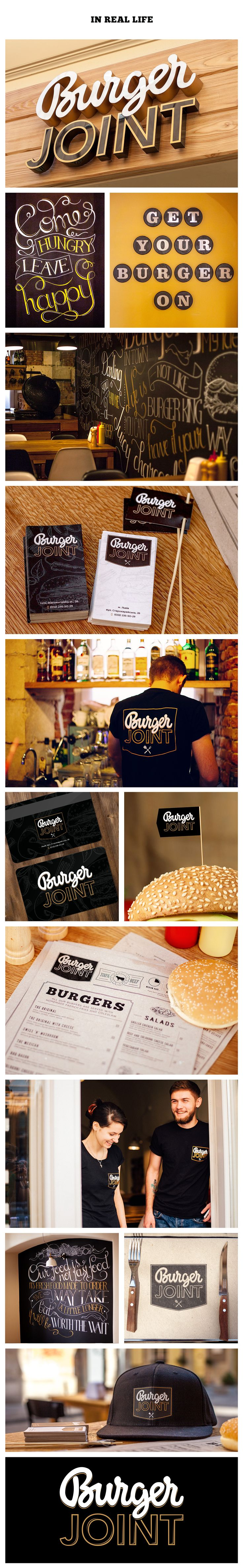 Burger Joint branding on Behance