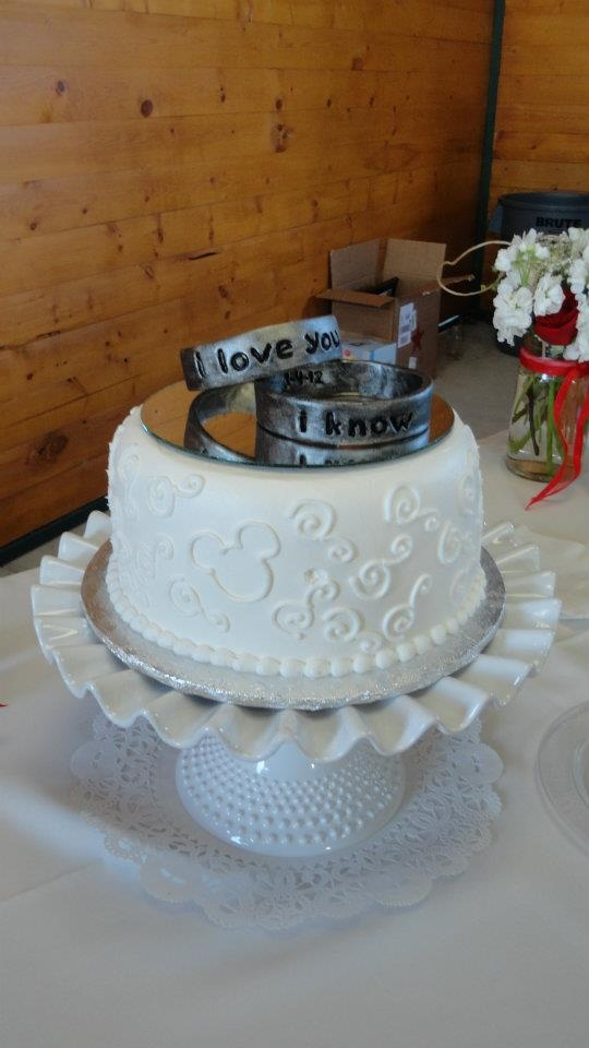 Hidden Design Cake Ideas : Our Star Wars cake topper and our hidden Mickey wedding ...
