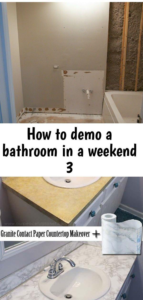 How To Demo A Bathroom In A Weekend 3 Diy Bathroom Home Diy Bathroom Decor