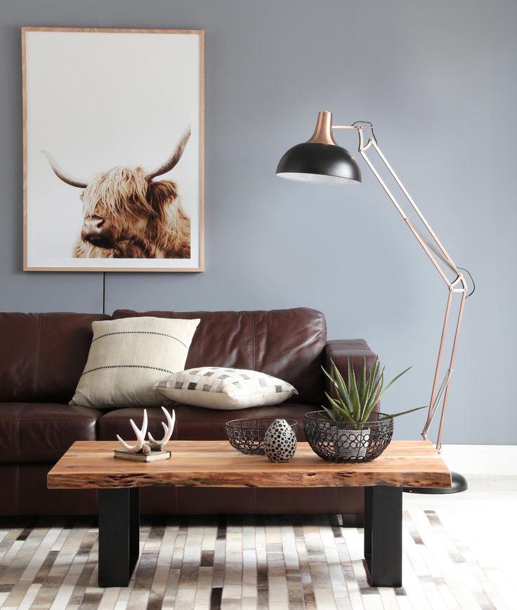 Gordon sofa with live edge coffee table