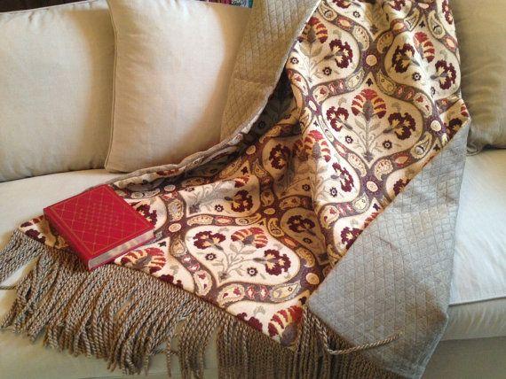 Moroccan Throw Blanket Luxurious Mediterranean by AlexsAttic