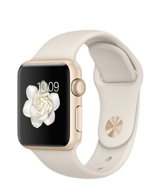 Apple Watch Sport - Gold Aluminum Case with Antique White Sport Band (38mm) - $299