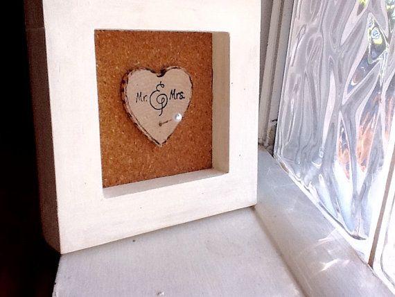Wedding Ring Holder Frame/shower gift/wedding gift/unique gift/Christmas gift / home decorMr and Mrs Ring Frame/bridal shower gift